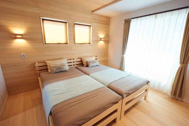 寝室 - もみの木ハウス - 施工事例